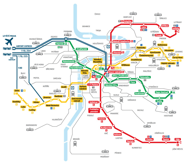 Карта станций, с которых можно