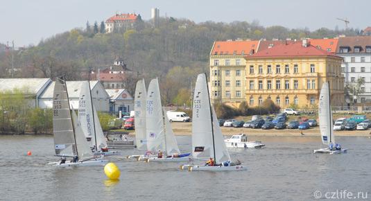 Гонки парусников в Праге
