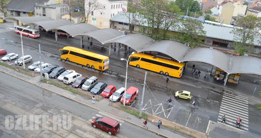 Фотография автобусного вокзала в Брно