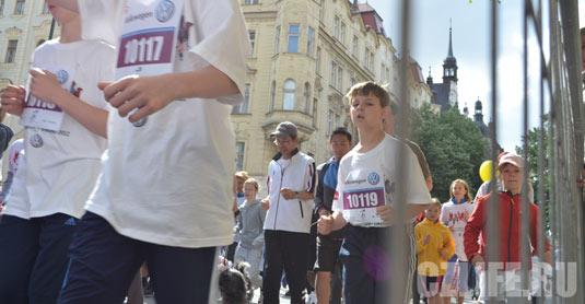 Марафон в Праге - участники всех возрастов