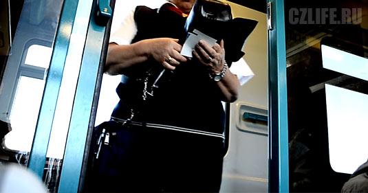 Контролеры в поезде Чехии