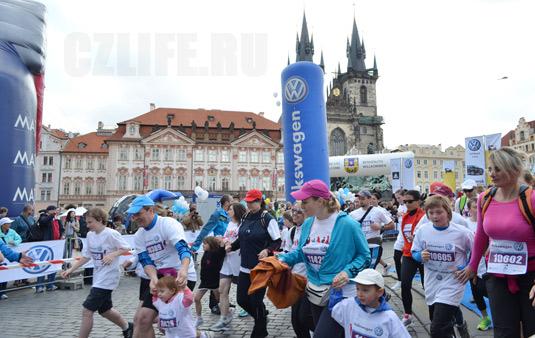 Старт марафона в Праге