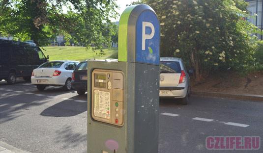 Парковочный автомат в Праге
