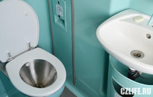Туалеты в чешских поездах