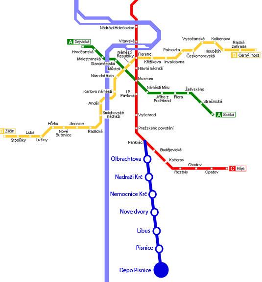 план поездок метро.