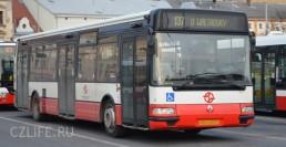 Автобус в Праге