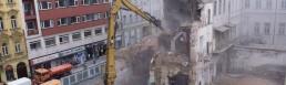 В центре Праги снесли бывший печатный дом